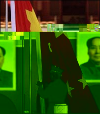 The Chinese national flag is raised in front of a portrait of Chairman Mao in Tiananmen Square, Beijing (file photo)