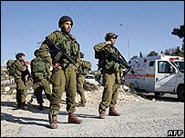Israeli soldiers near Hebron