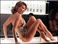 Kylie Minogue in the video for Spinning Around