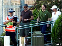 David Hicks leaves prison in Adelaide, 29 December 2007