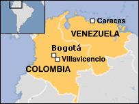 Mapa de Colombia y Venezuela