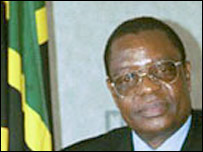 Tanzanian ambassador to South Africa Emmanuel Mwambulukutu, in an official embassy photograph