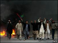 مظاهرات في بيشاور