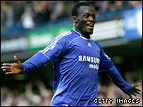 Michael Essien celebrates after putting Chelsea ahead