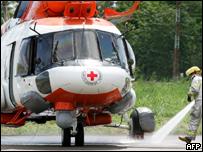 Helicóptero a la espera en Villavicencio