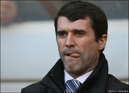 Keane watches the action at the Stadium of Light