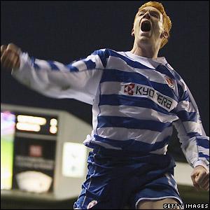 Kitson celebrates a goal