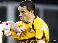 Phil O'Donnell in action against Dundee United