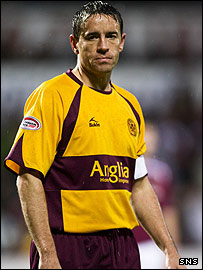 Motherwell midfielder Phil O'Donnell