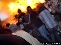Взрыв бомбы на митинге в Равалпинди