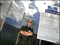 Father Neil Byrne outside HMP Wealstun, near Wetherby
