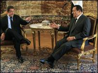 اجتماع رسمي بين الرئيس المصري والرئيس الفرنسي