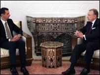 عضو مجلس الشيوخ الأمريكي، أرلين سبيكتر في  لقاء مع الرئيس الأسد