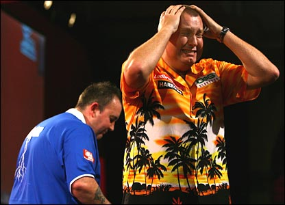 """Wayne """"Hawaii 501"""" Mardle is uncustomarily lost for words after beating """"The Power""""."""