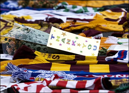 Tributes at Fir Park