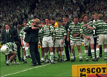 O'Donnell celebrates 1995 Scottish Cup win