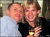 Kevin Greening with Zoe Ball