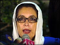 Benazir Bhutto in Karachi, 20 November 2007
