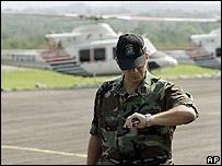 Oficial de aviación venezolano en Villavicencio