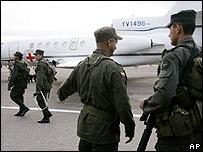 Policías en Villavicencio