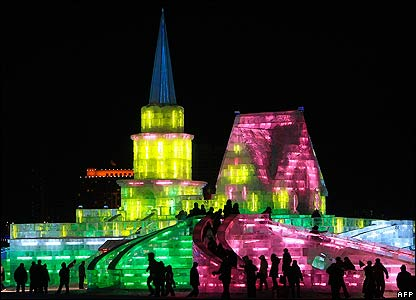 Ice and Snow World in Harbin, north-east China
