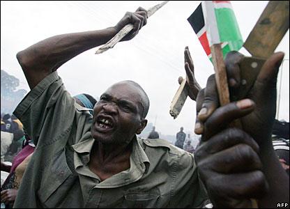 Supporter of Raila Odinga in the Kibera slum, Nairobi