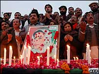 Benazir Bhutto supporters in Multan