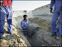 Migrant workers in Dubai