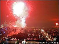 Edinburgh's fireworks