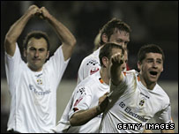 Steve Robinson celebrates putting Luton 2-1 up in their epic 2006 FA Cup tie against Liverpool