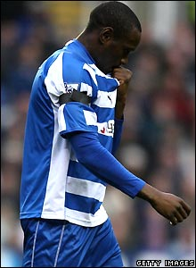 Ibrahima Sonko is sent off in Reading's game with Portsmouth