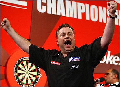 John Part celebrates victory