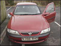 Vauxhall Vectra seized by police