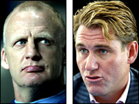 Ian Dowie and Simon Jordan