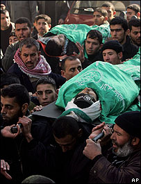 Funerals held in Gaza for the Hamas militants killed in a clash with Israeli forces