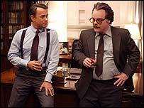 Tom Hanks with Philip Seymour Hoffman in Charlie Wilson's War