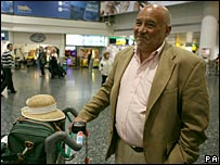 British tourist arrives back at Gatwick airport from Mombasa