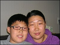Jin Ki and his mother