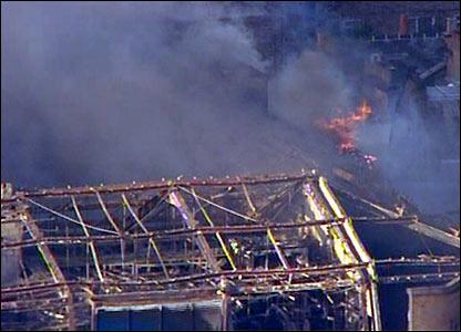 Fire at Royal Marsden Hospital, London