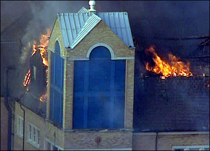 Fire at Royal Marsden Hospital, London