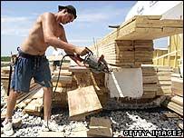 Trabajdor de la construcción en California, EE.UU.