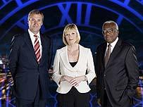 Mark Austin, Julie Etchingham and Sir Trevor McDonald