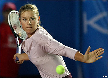 maria sharapova tennis star. Russian tennis-player Maria