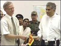 Cease Fire Agreement being signed in 2002