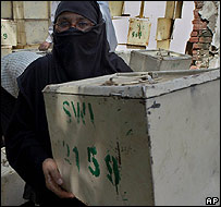 Pakistani ballot boxes