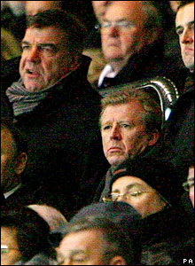 Steve McClaren (bottom right) is in the crowd at Newcastle