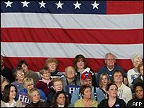 Acto político en Iowa