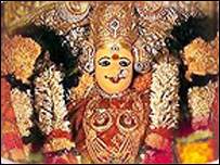 Goddess Durga (Pic courtesy: Shri Durga Malleswara temple website)