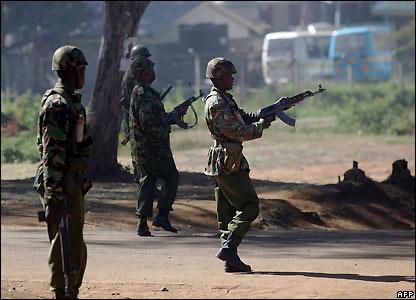 Kenyan police in Nairobi