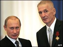 Владимир Путин и Александр Абдулов